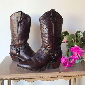 Vintage cowboy boots brown leather dingo style